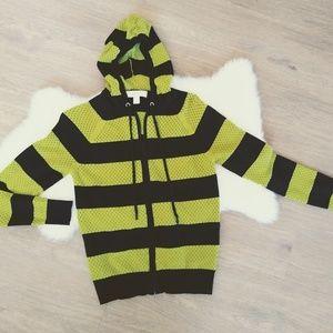 Michael Michael Kors Striped hooded Black/ Neon